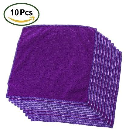 Kanggest 10Pcs Multicolor Microfibra Pequeña Toalla para Limpieza del Coche del Casa Lavado de la Cocina