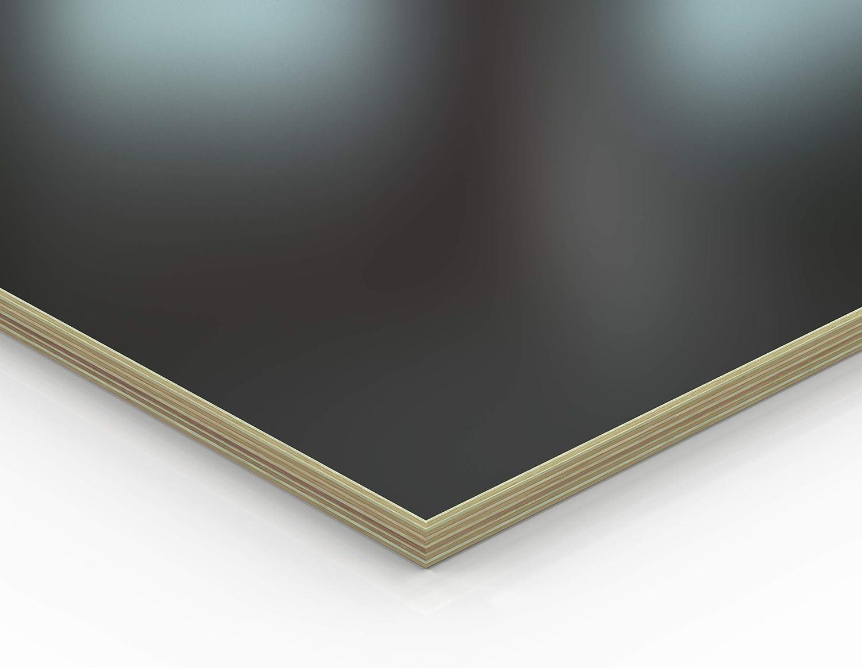12mm Multiplex Zuschnitt schwarz melaminbeschichtet L/änge bis 200cm Multiplexplatten Zuschnitte Auswahl 80x110 cm