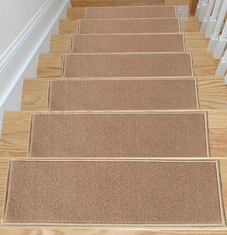 Ottomanson Escalier Skid Resistant Rubber Backing Non Slip Carpet Stair  Treads Set Of 7