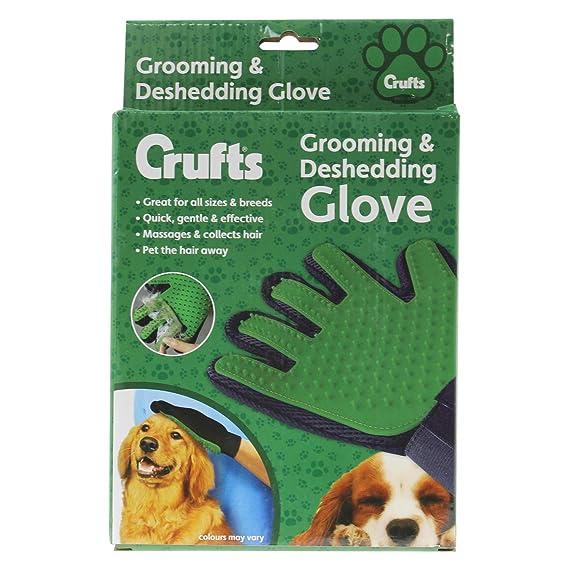 Crufts - Guantes para Aseo y descamación: Amazon.es: Productos para mascotas