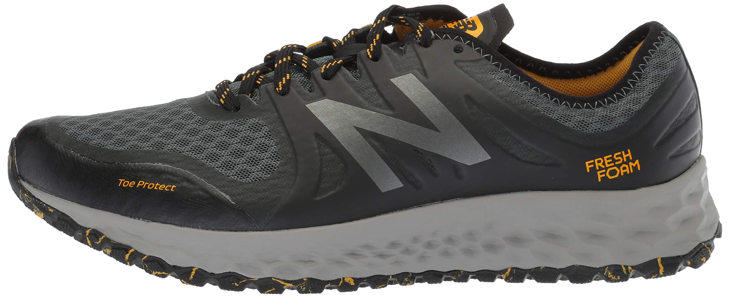 New Balance Men's Kaymin V1 Fresh Foam Trail Running Shoe, Faded Rosin/Black/Brass, 1.5 D US by New Balance (Image #5)