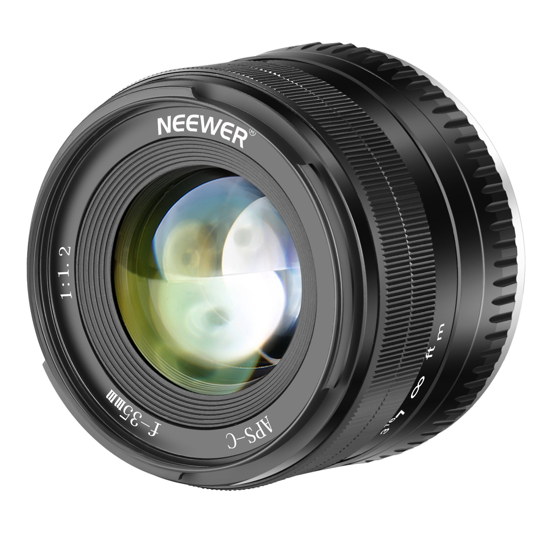 Neewer 35mm F1.2 Large Aperture Prime APS-C Aluminum Lens for Fuji X Mount Mirrorless Cameras X-A1 X-A10 X-A2 X-A3 X-at X-M1 X-M2 X-T1 X-T10 X-T2 X-T20 X-Pro1 X-Pro2 X-E1 X-E2 X-E2s