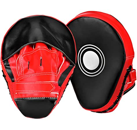 Starpro Manoplas Boxeo Paos Entrenamiento Cuero Sint/ético Escudo Acolchado Ataque Almohadillas Mano Curvadas con Gancho y Jab Bueno para MMA Muay Thai Artes Marciales Kickboxing Karate