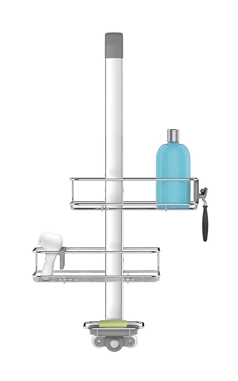 Amazon.com: simplehuman Over Door, Hanging Shower Caddy, Stainless ...