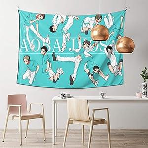 Riiat Haikyuu- Aoba Johsai Wall Hanging Tapestry Wall Art for Living Room Bedroom Home Decor 60 X 40 Inch