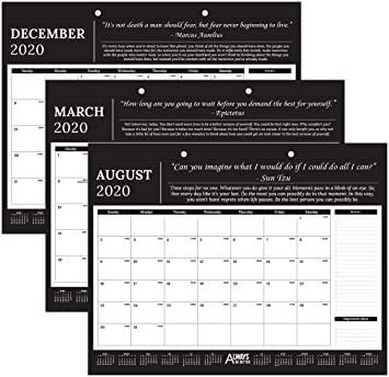 Amazon Com Professional Monthly Motivational Inspirational Desk Wall Calendar 2019 2020 17 X 12 Great For Business Office Academic Daily Use Always Be Better Office Products