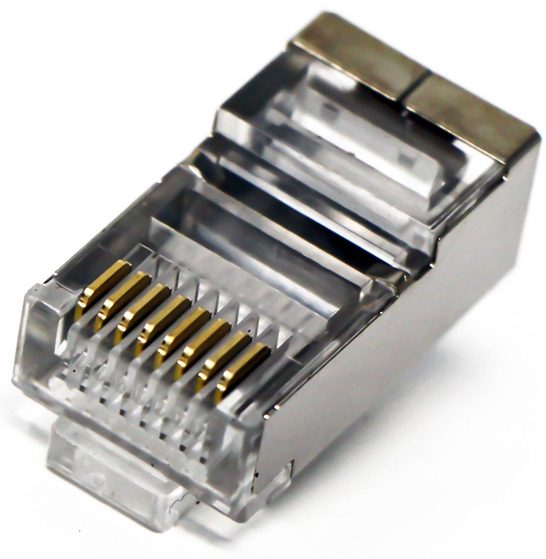 amazoncom tupavco tp806 shielded rj45 cat5 cat5e crimp connector