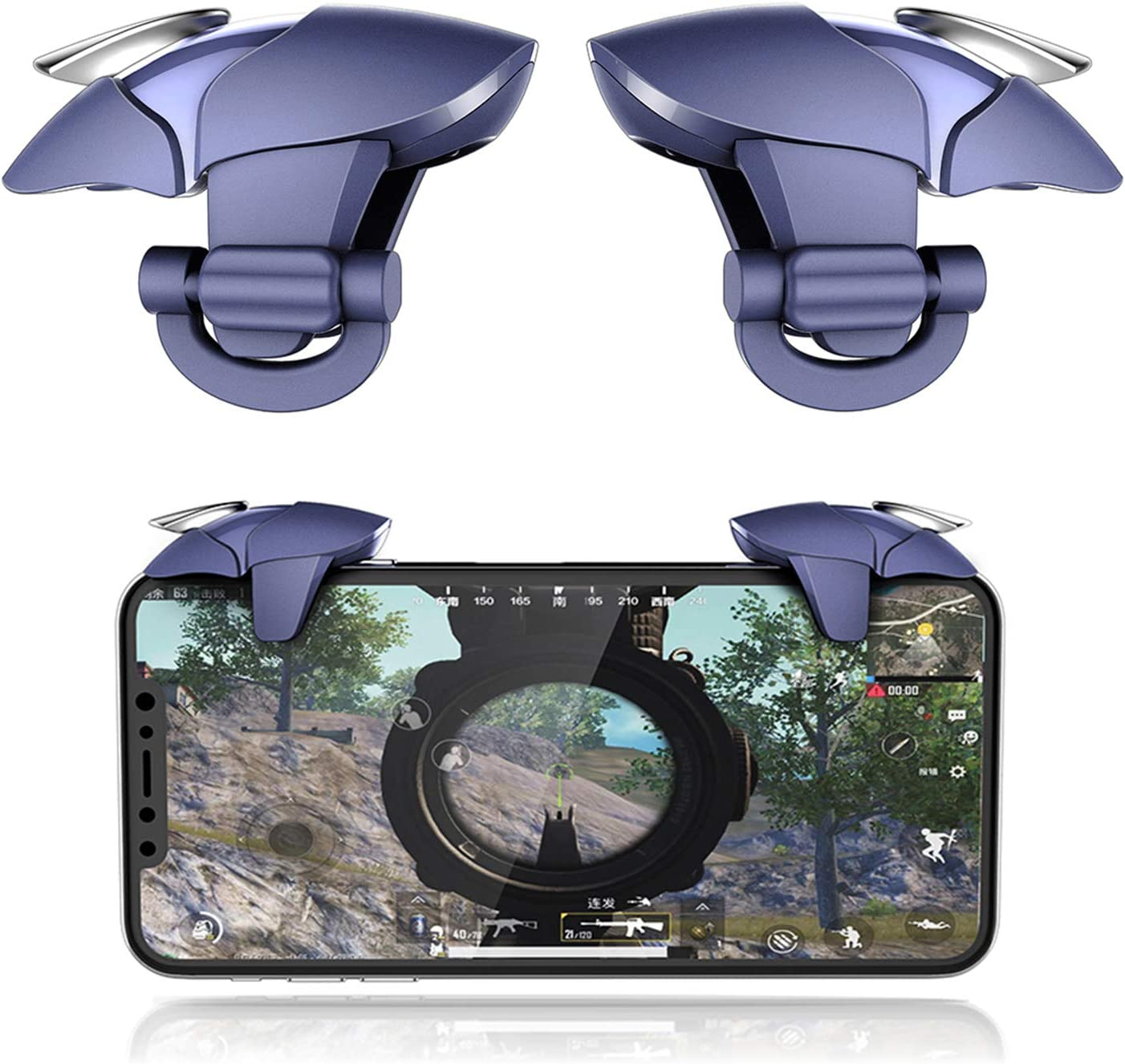 Call of Duty Sensitive Shoot und Ziel L1R1 Joystick kompatibel mit Android iPhone /& iPad Handy Gamepad Accesorios Mobile Trigger Delam PUBG Mobile Controller