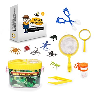 Small Adventures- Bug Catcher Kit for Kids | Bug Collection and Kids Explorer Kit Includes Butterfly Net, Bug Observation Capsule Magnifying Glass & Bug | Science Toy for Boys & Girls: Toys & Games