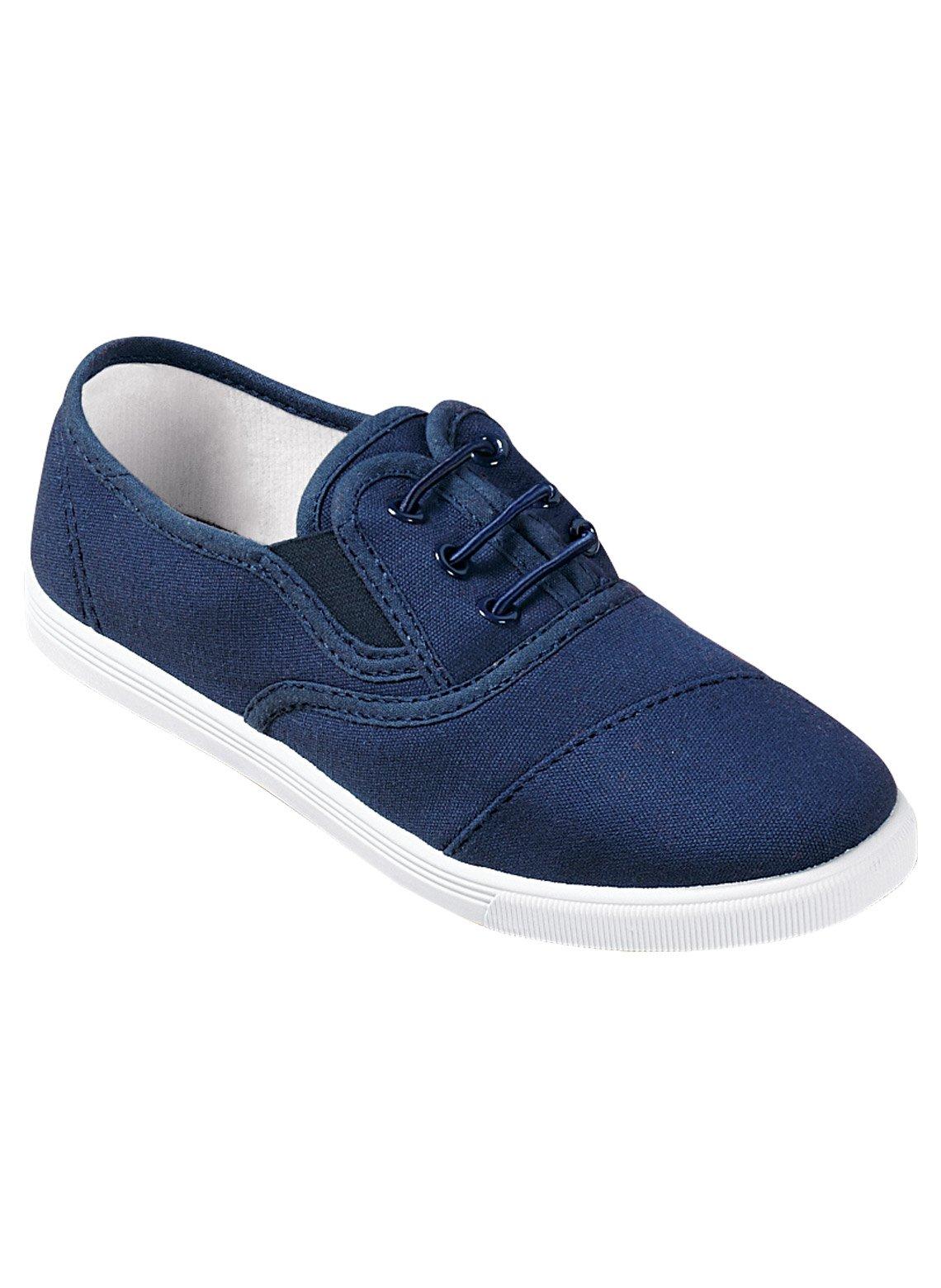 Carol Wright Gifts No-Tie Sneaker, Navy, Size 7-1/2 (Medium)