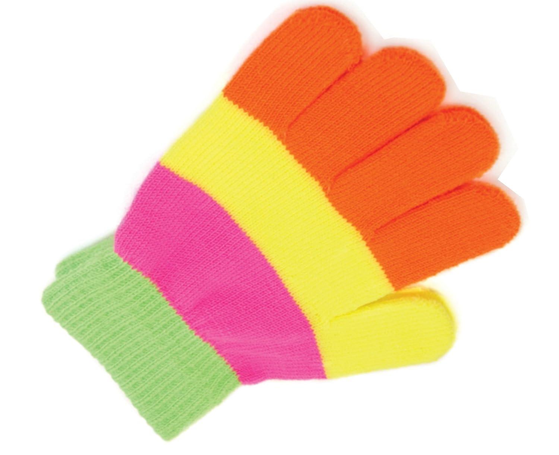Octave - Kinder - Handschuhe mit Magic Stretch - Neon-Regenbogenfarben