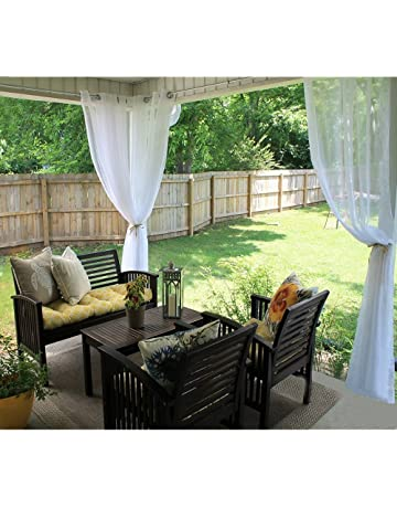 Amazon Com Outdoor Curtains Patio Lawn Garden
