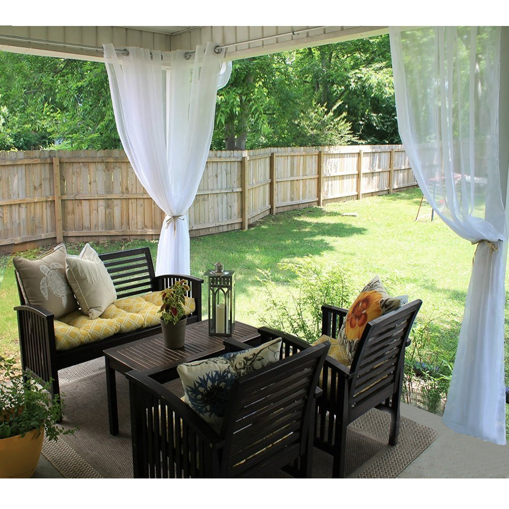 Amazon Com Sheer Curtains Panels For Patio Ryb Home Window