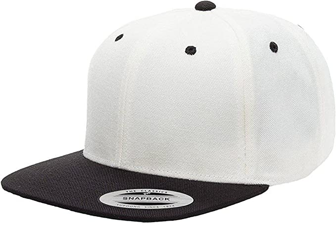 26df4902edf Amazon.com  Yupoong 6089MT Classic Snapback Pro-Style Wool Cap by Flexfit Two  Tone - One Size (Natural Black)  Clothing