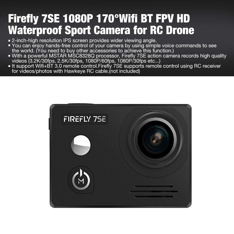 FairytaleMM Firefly 7SE 1080P 170 掳 WiFi BT cámara Impermeable ...