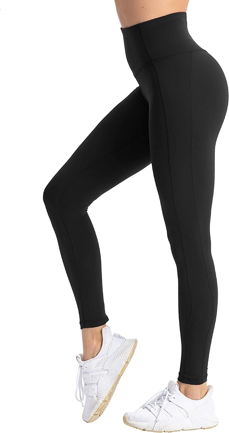 coastal rose Womens Yoga Pants Comfy Brushed 7//8 Length High Waisted Workout Leggings Sport Tights with Inner Pocket