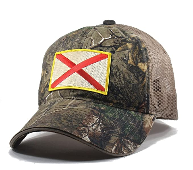 36df5b1648143 ... coupon for homeland tees mens alabama flag patch camo trucker hat  realtree 6c302 f3243