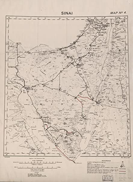 Amazon Com Vintage 1937 Map Of Sinai Egypt Sinai Posters Prints