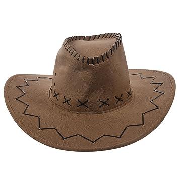 e183b448ce292 Sombrero - SODIAL(R)Retro Unisex Sombreros accesorio del vestido de lujo de  Rodeo de vaqueros de Oeste Salvaje de Mezclilla caqui  Amazon.es  Deportes  y ...