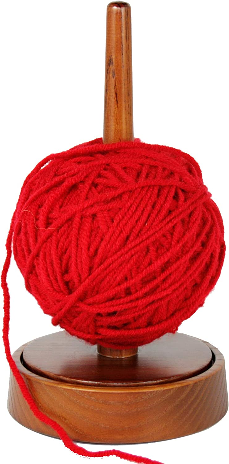 BarvA Yarn Ball Holder Cupcake Spindle Sewing Thread Base Fiber Crocheting Tool Wool Skein Cord Organizer Ribbon Tape Rope Storage Portable Lazy Susan Stand Cable Knitting Embroidery Accessory Gift