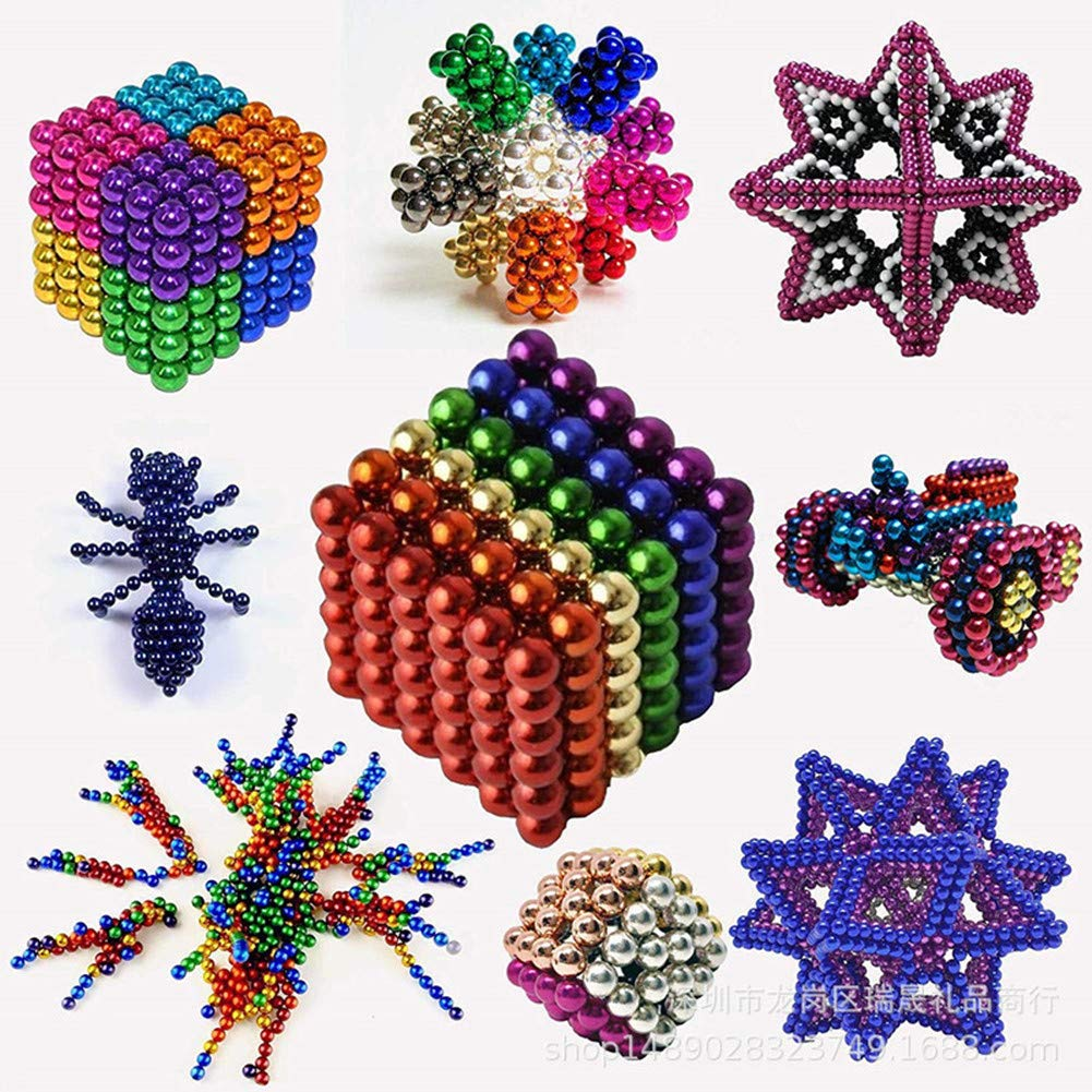 MICOSBVX 216 Pcs 5MM Magnets Sculpture Building Blocks Toys for Intelligence Learning Stress Relief /& Gift for Adults 216 Pcs(8 Colors)