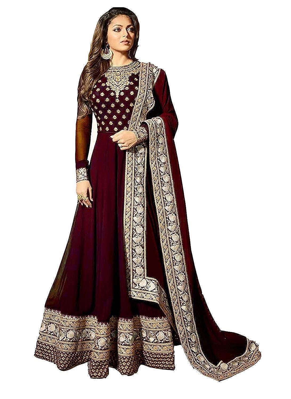 stylishfashion Latest Embroidered and with Beautiful Anarkali Designer Salwar Kameez