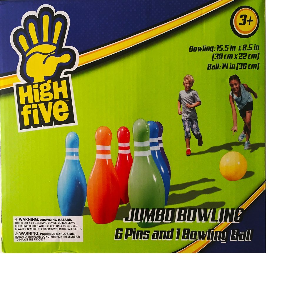 High Five Inflatable Jumbo Bowling 15.5 In X 8.5 In..Ball: 14 In. 4