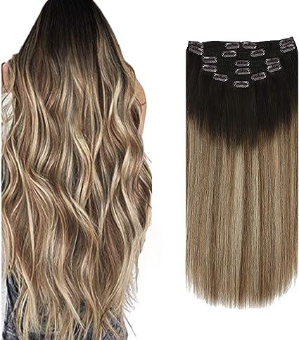 extension con clip capelli veri