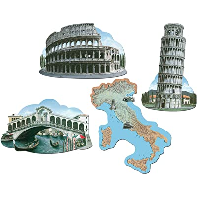 Italian Cutouts (4/Pkg): Party Decorations: Kitchen & Dining