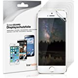 6x kwmobile Folie für Apple iPhone SE / 5 / 5S - klare Displayschutzfolie Displayschutz Crystal Clear kristallklar Displayfolie Schutzfolie