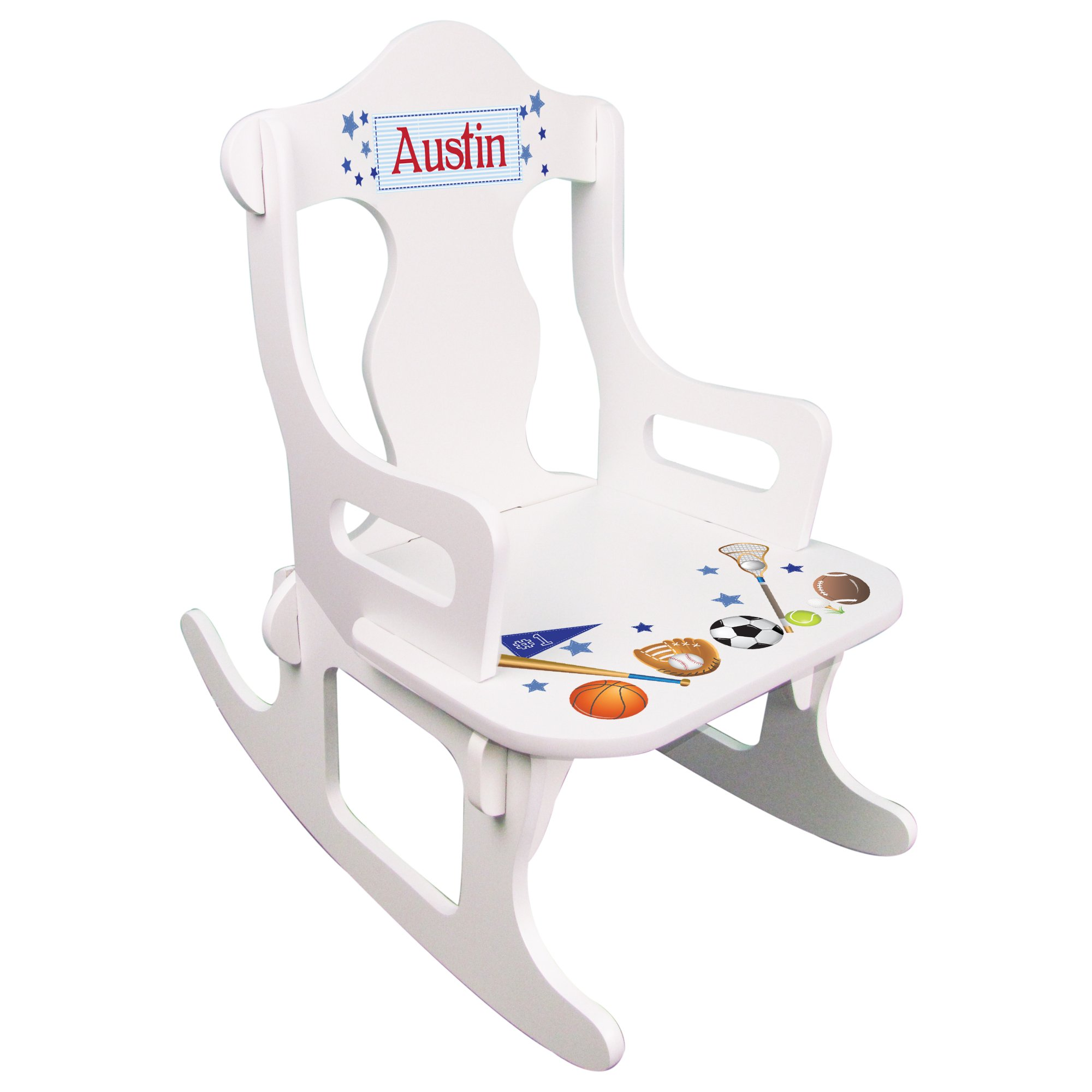 Personalized Child's Sports Puzzle Rocking Chair
