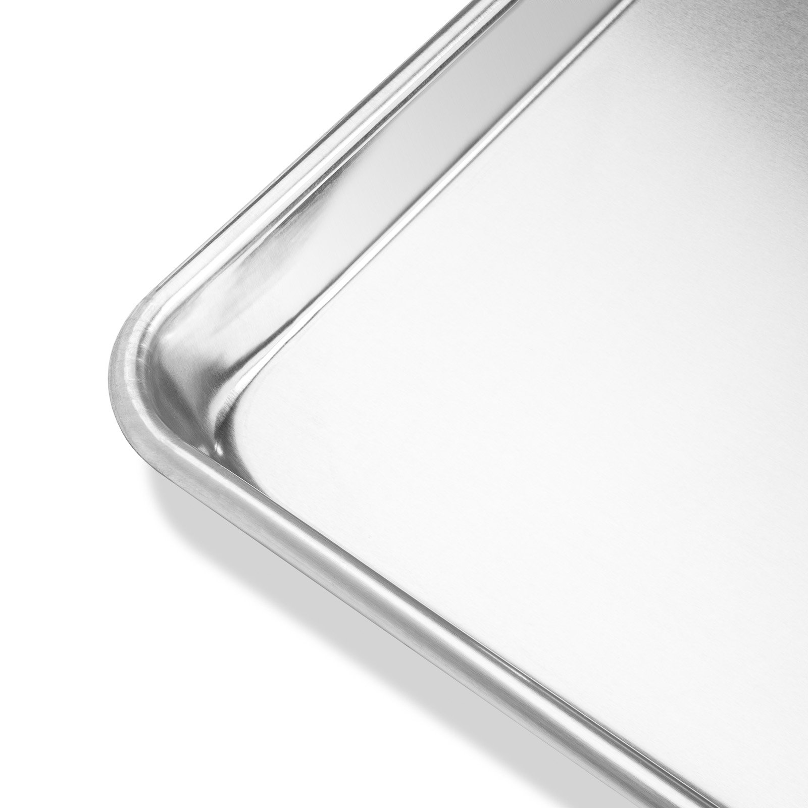 Last Confection 6 Cookie Baking Sheets 13'' x 18'' - Rimmed Aluminum Jelly Roll Trays - Half Sheet Pans by Last Confection (Image #4)