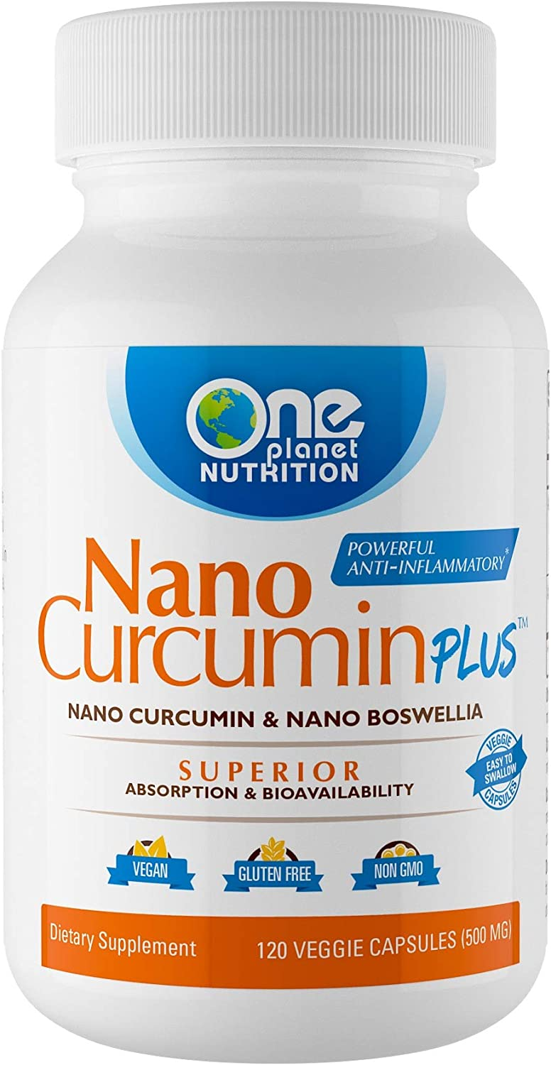 Nano Curcumin Plus – Now with Nano Curcumin and Nano Boswellia, Powerful Anti-inflammatory, Antioxidant, Joint Pain Reliever – 4 Month Supply 120 Capsules