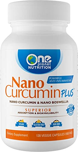 Nano Curcumin Plus Combines Two bioactives, Curcumin extracted from The Tumeric Root and Boswellia extracted from The Boswellia Serrate Tree. 4 Month Supply 120 Capsules
