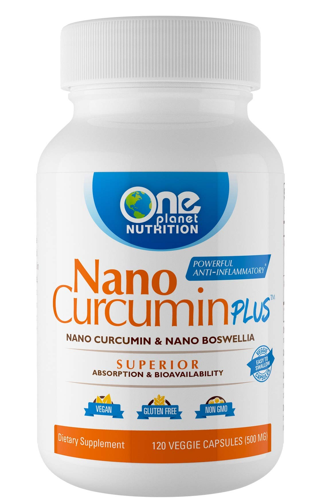 Nano Curcumin Plus - Now with Nano Curcumin and Nano Boswellia, Powerful Anti-inflammatory, Antioxidant, Joint Pain Reliever - 4 Month Supply (120 Capsules)