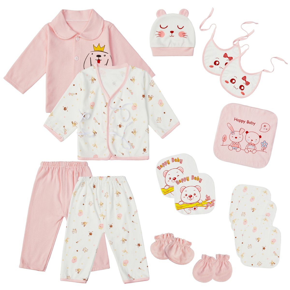 7f700224d Newborn Clothes Infant Layette Set 0-3 Months Baby Girl Boy Outfits ...