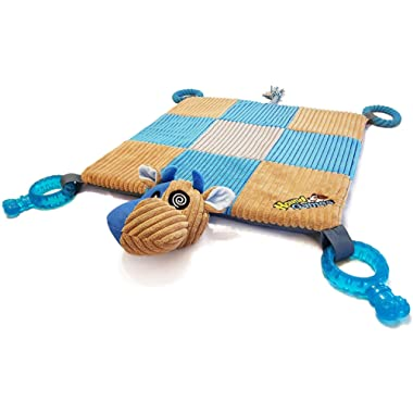 HoundGames | The Doggy Play Mat - Puppy Chew Toys, Teething Ropes, Dental Grade Quality, Squeaker Nose, Plush Padded Mat - Designed in The Colors Dogs See Best!