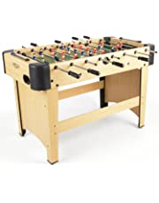 JumpStar Sports 4ft Wooden Football Table Freestanding Indoor Soccer Gaming Set Family Game