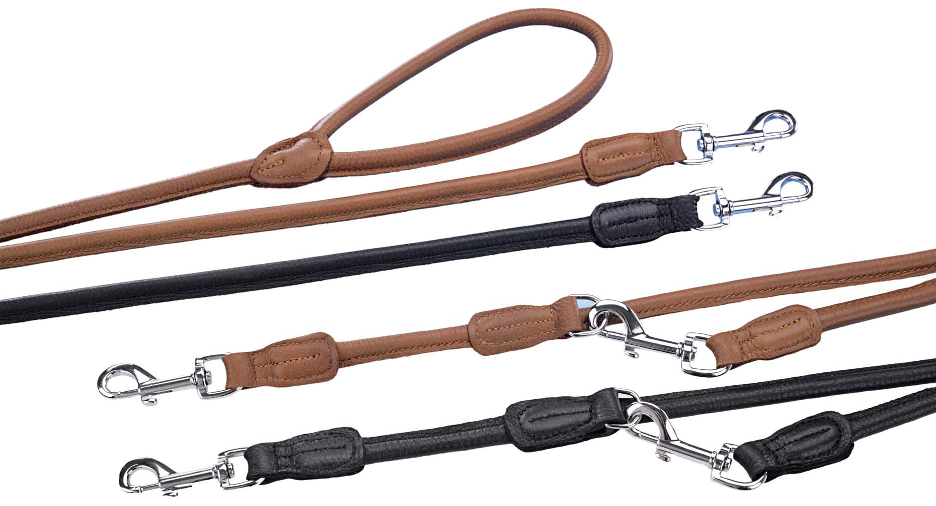 Nobby Leash Elk Leather, 130 cm, Black