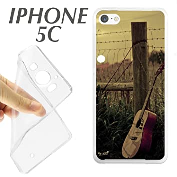 J421 IPHONE 5C CARCASA FUNDA TPU GUITARRA CLASICA MUSICA ...