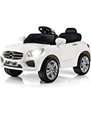 Costzon Kids Ride On Car, RC Parental Remote Control & Foot Pedal, Battery Powered Vehicle (White)