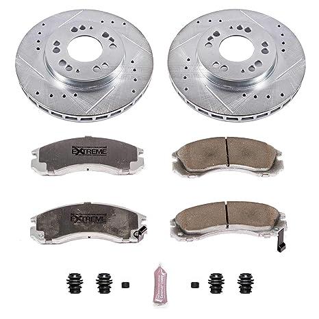 Ceramic Brake Pads Fit 1991-1996 Dodge Stealth Rear Drill Slot Brake Rotors