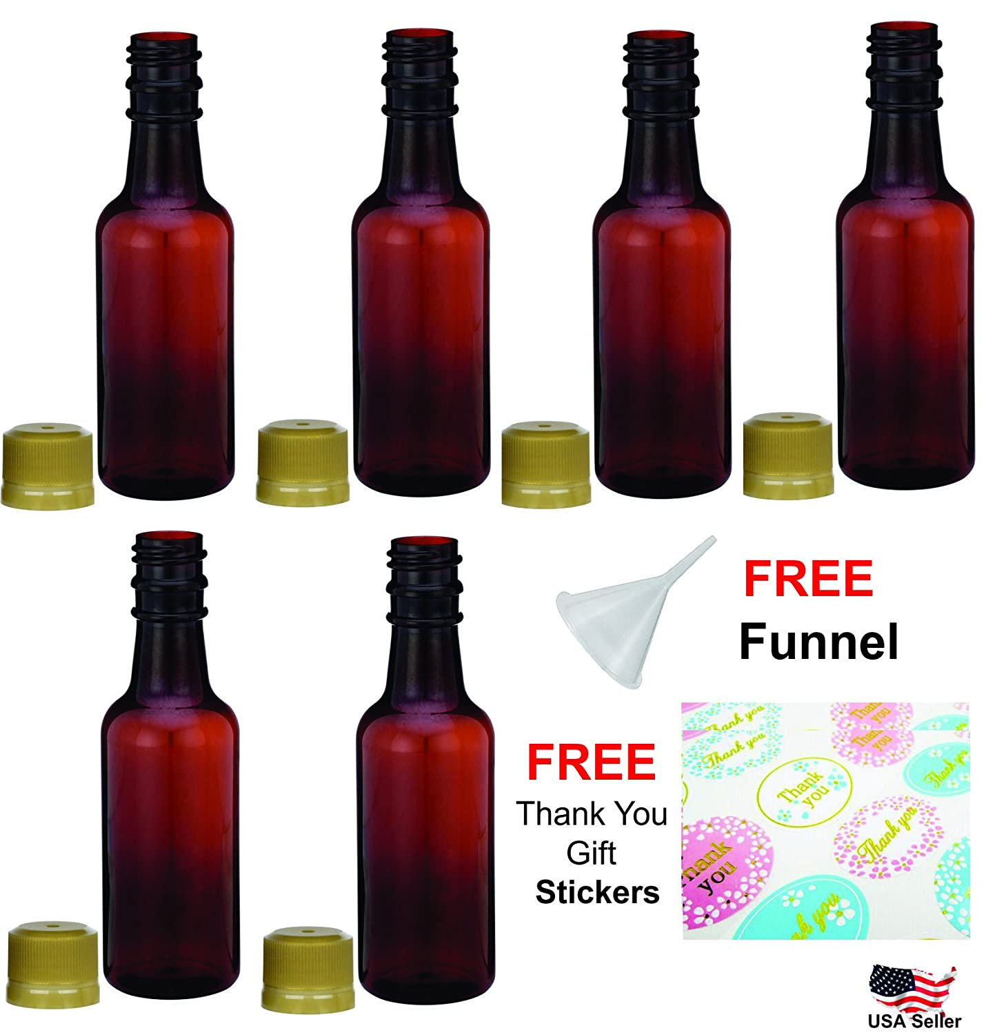 Amazon.com: Mini empty liquor bottles plastic alcohol shots 50ml ...