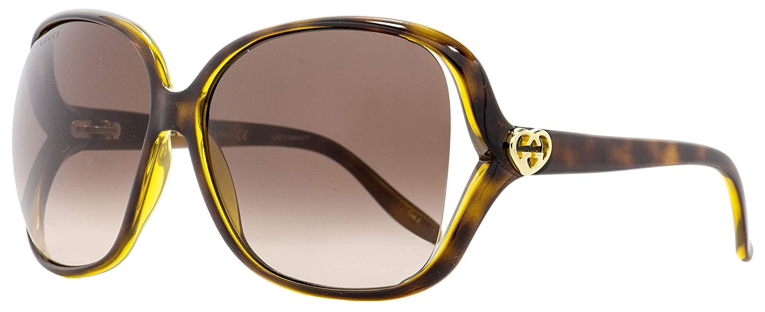 669652830da Amazon.com  Gucci Square Sunglasses GG0506S 005 Havana 60mm 0506  Clothing