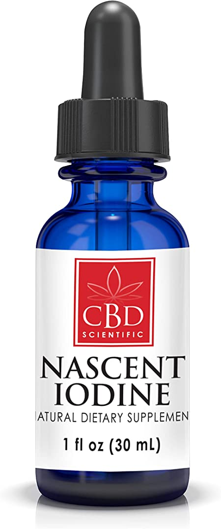 Organic Nascent Iodine Supplement Deep-Earth Sourced. Supports & Detoxifies Thyroid. Boost Metabolism, Focus & Energy. 1,950 mcg per Serving