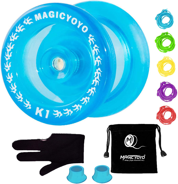 LITONGFU Yo-Yos Professional Magic Yoyo Metal K8 Polished Metal Yoyo Ball High Speed Yo Yo Kids Classic Toys For Children