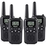 Rivins RV-7 Walkie Talkies Long Range 4 Pack 2-Way Radios Up to 5 Miles Range in Open Field 22 Channel FRS/GMRS Walkie…
