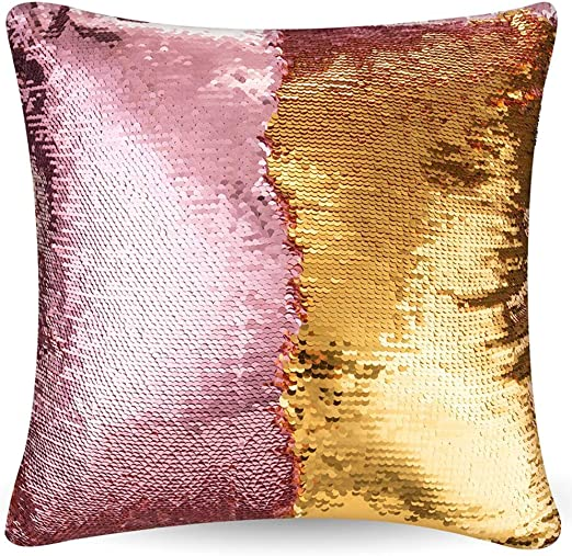 New Mermaid Sequins Pillow Cover Throw Case Color Change Cafe Home Decor Cushion