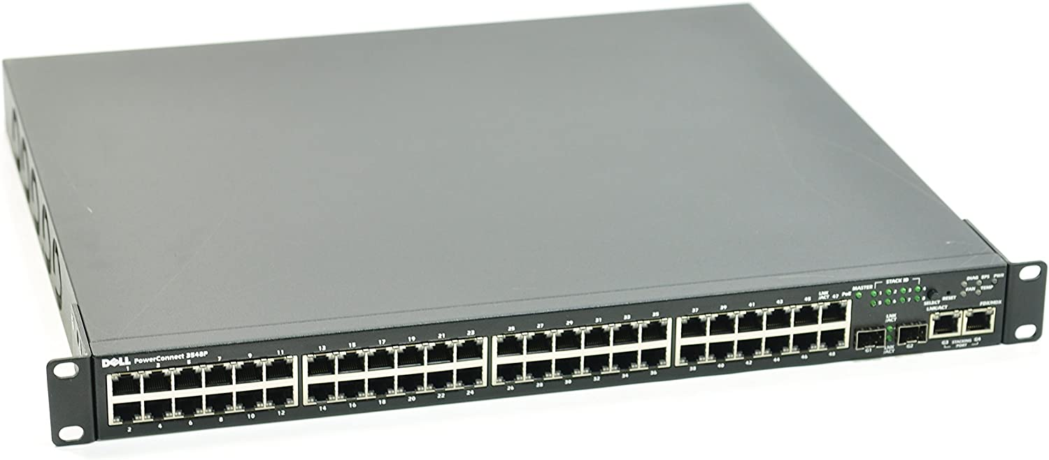 Dell Powerconnect 3548P Switch - 48 Ports - Manageable - 48 X Rj-45 - Stack Port - 2 X Expansion Slots - 10/100Base-Tx, 10/100/1000Base-T - Poe Ports - Rack-Mountable