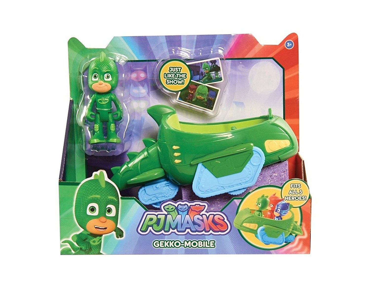 PJ Masks GEKKO-MOBILE - Just Like The Show - Fits All 3 Heroes!: Toys & Games